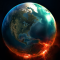 Earth Fire Globe